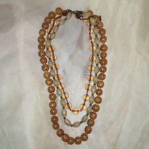 Jewelry - 3-Strand Chunky Beaded Statement Necklace